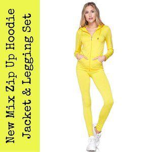 New Mix Zip Up Jacket and Legging Set